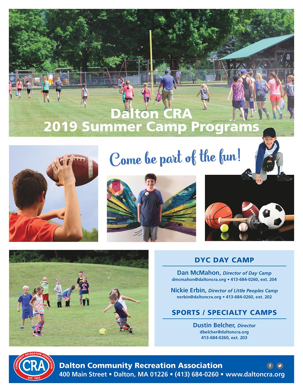 Dyc Gym Calendar February 2019 Youth Camps   Dalton CRA